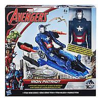 Титаны: Фигурка Мстителя Iron Patriot на  транспортном средстве Avengers B0431-2