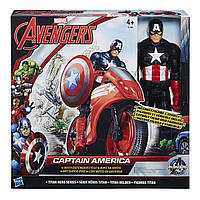 Титаны: Фигурка Мстителя Captain America  на  транспортном средстве Avengers B0431-2
