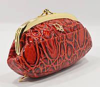 Косметичка женская кожаная Dior 916 ярко-красная кроко, расцветки в наличии