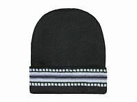 Модная вязаная шапка мужская