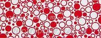Декоративная бордюрная лента — Пенка красная - Н60 мм - 500 м