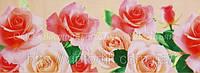 Декоративная бордюрная лента — Розы большие светлые - Н50 мм - 500 м