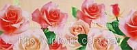 Декоративная бордюрная лента — Розы большие светлые - Н60 мм - 500 м
