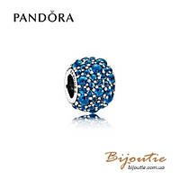 Шарм Pandora СИНИЕ МЕРЦАЮЩИЕ КАПЛИ #791755NLB серебро 925 Пандора оригинал