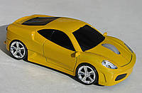 Мышка компьютерная беспроводная Ferrari F430 желтая