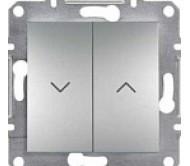 SHNEIDER ELECTRIC ASFORA Выключатель для жалюзи Алюминий