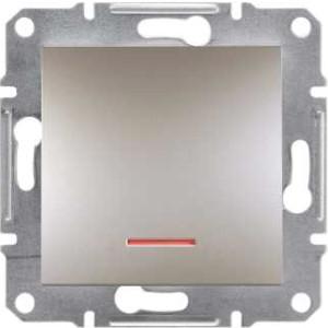 SHNEIDER ELECTRIC ASFORA Выключатель одноклавишный с подсветкой Бронза