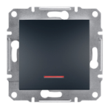 SHNEIDER ELECTRIC ASFORA Кнопка с подсветкой Антрацит