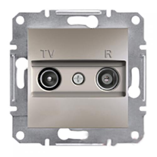 SHNEIDER ELECTRIC ASFORA TV/R Розетка проходная 4 dB Бронза
