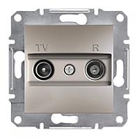 SHNEIDER ELECTRIC ASFORA TV/R Розетка проходная 8 dB Бронза