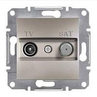 SHNEIDER ELECTRIC ASFORA TV-SAT Розетка проходная 4 dB Бронза