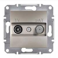 SHNEIDER ELECTRIC ASFORA TV-SAT Розетка проходная 8 dB Бронза