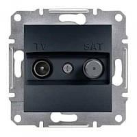 SHNEIDER ELECTRIC ASFORA TV-SAT Розетка прохідна 8 dВ Антрацит