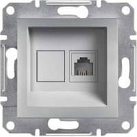 SHNEIDER ELECTRIC ASFORA Розетка компьютерная неэкр. UTP кат. 5е Алюминий