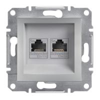 SHNEIDER ELECTRIC ASFORA Розетка компьютерная двойная неэкр. UTP кат. 5е Алюминий