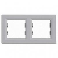 SHNEIDER ELECTRIC ASFORA Рамка 2 - постовая горизонтальная Алюминий