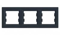 SHNEIDER ELECTRIC ASFORA Рамка 3 - постовая горизонтальная Антрацит