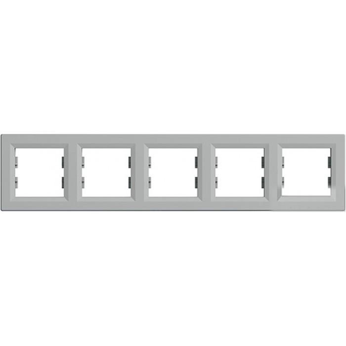 SHNEIDER ELECTRIC ASFORA Рамка 5 - постовая горизонтальная Алюминий