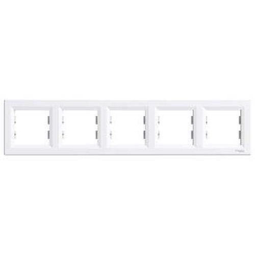 SHNEIDER ELECTRIC ASFORA Рамка 5 - постовая горизонтальная Белая