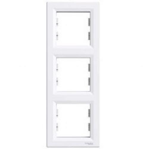 SHNEIDER ELECTRIC ASFORA Рамка 3 - постовая вертикальная Белая