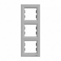 SHNEIDER ELECTRIC ASFORA Рамка 3 - постовая вертикальная Алюминий