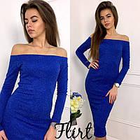 Женское модное платье с люрексовой нитью (4 цвета), фото 1