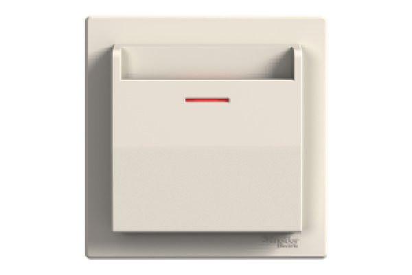 SHNEIDER ELECTRIC ASFORA Выключатель карточный механический Крем