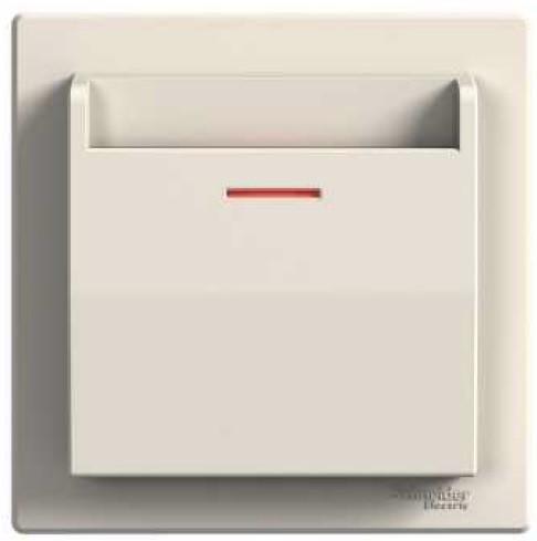 SHNEIDER ELECTRIC ASFORA Выключатель карточный электрический Крем