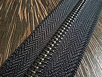 Молния металлическая №5 Италия цвет тёмный никель.