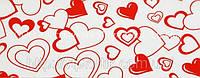 Декоративная бордюрная лента — Сердца крупные - Н50 мм - 500 м