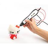 3д ручка RP-700A 3D pen smart 5 (оранжевый) + набор пластика 12 цветов в подарок, фото 5