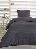 Сатиновое постельное белье Eponj Home Classic Bona серое полуторного размера