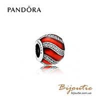 Шарм Pandora КРАСНЫЙ ПРАЗДНИЧНЫЙ ШАРМ #791991EN07 серебро 925 Пандора оригинал