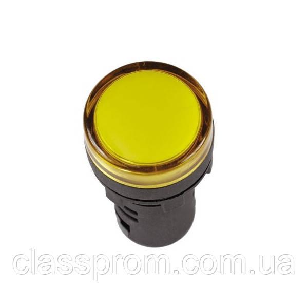 Лампа AD16DS LED-матрица d16мм желтый 12В AC/DC IEK