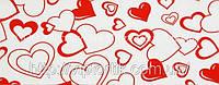 Декоративная бордюрная лента — Сердца крупные - Н60 мм - 500 м