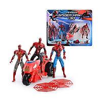 Супергерои Spider-Man 89258 СП, 3 фигурки, высота 12 см, трицикл 14 см, на планшетке 37,5*30*9 см