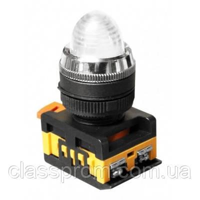 Лампа AL-22 сигнальная d22мм белый неон/240В цилиндр IEK