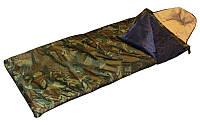Спальный мешок одеяло с капюшоном камуфляж р-р 185+35*72 см