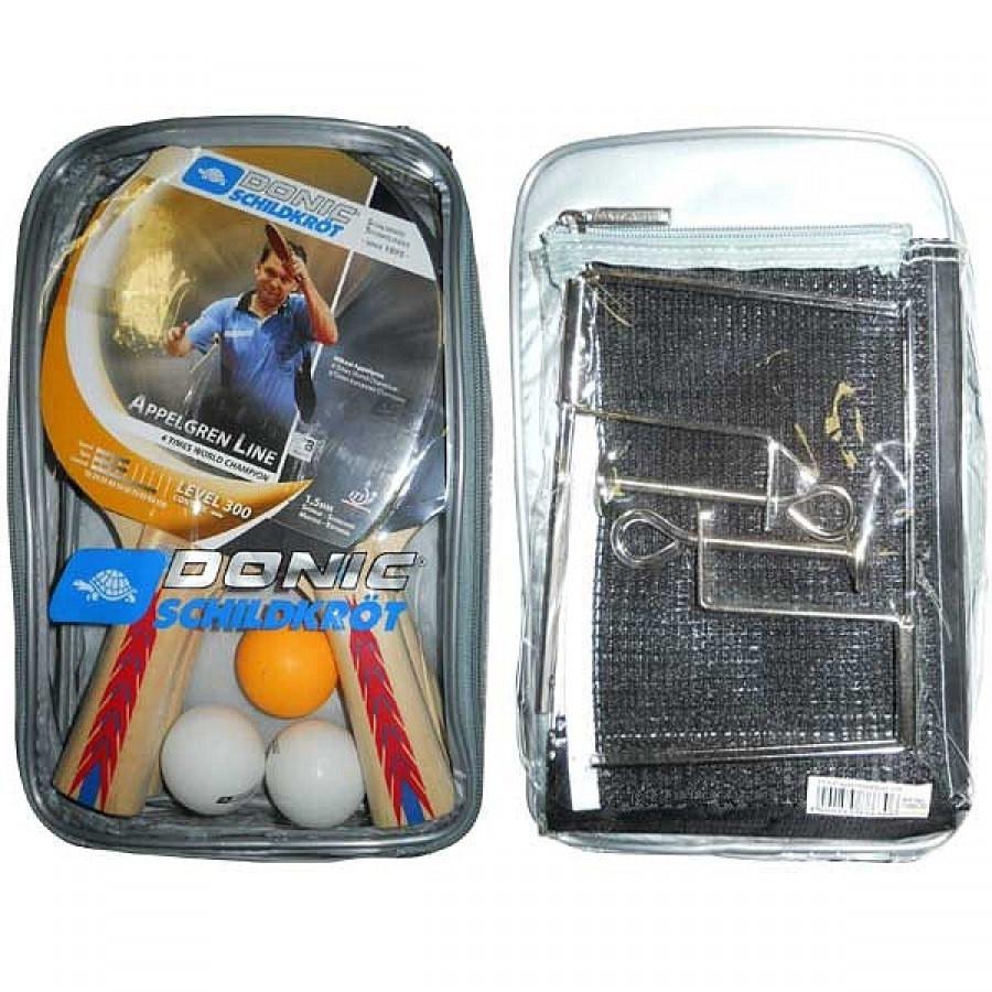 Набор для пинг-понга Donic Appelgren 300 4-player set (4 ракетки+3 мяча+сетка+чехол) (788639)