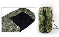 Спальный мешок одеяло с капюшоном камуфляж рр-190+30*75 см