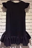 Модное  черное платье , джерси !