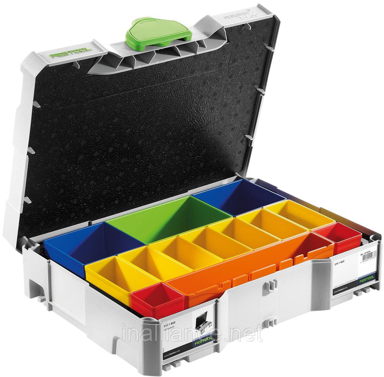 Систейнер с универсальными вкладышами T-LOC SYS 1 BOX Festool 497694