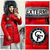 Пальто женское с нашивками, фото 1