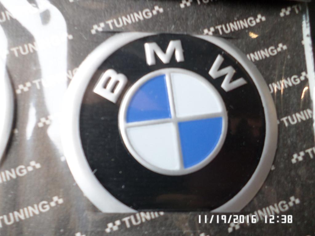 Наклейка эмблема БМВ на колесный диск / колпак d 60 мм
