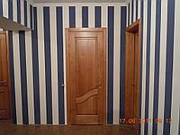 Дверь межкомнатная из массива ясеня с фигурной филёнкой