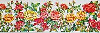 Декоративная бордюрная лента — Розы - Н50 мм - 500 м