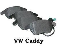 Тормозные колодки передние на Volkswagen Caddy. VW. Фольксваген Кадди. Комплект 4 шт. С датчиками износа.