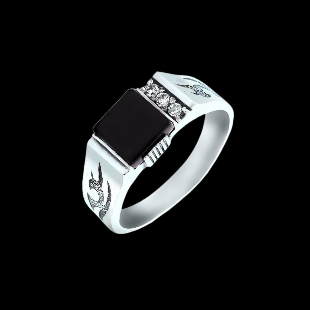 Мужское кольцо печатка Гермес