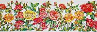 Декоративная бордюрная лента — Розы - Н60 мм - 500 м