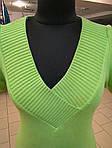 Джемпер вязаный зеленый жилет , фото 6